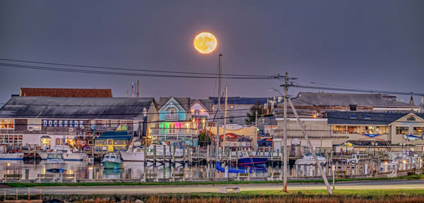 Oak Bluffs Halloween 2020 Full Moon Art | Michael Blanchard Inspirational Photography - Crossroads Gallery