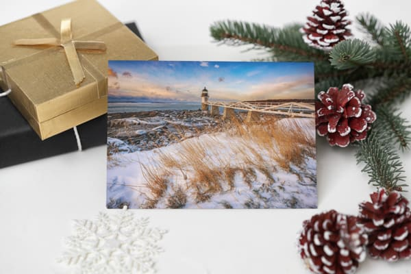 Snow Day at Marshall Point Greeting Card | Shop Photography by Rick Berk