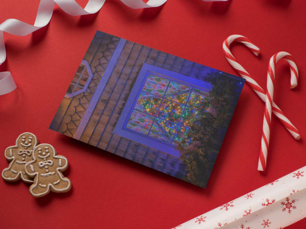Christmas Tree In The Window Greeting Card | Shop Photography by Rick Berk