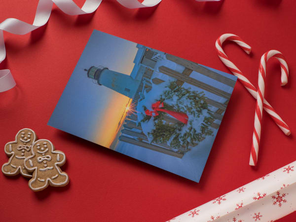 Christmas at Pemaquid Point Greeting Card | Shop Photography by Rick Berk