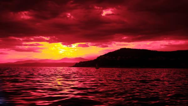 Cap Ferrat Sunset Photography Art | LenaDi Photography LLC