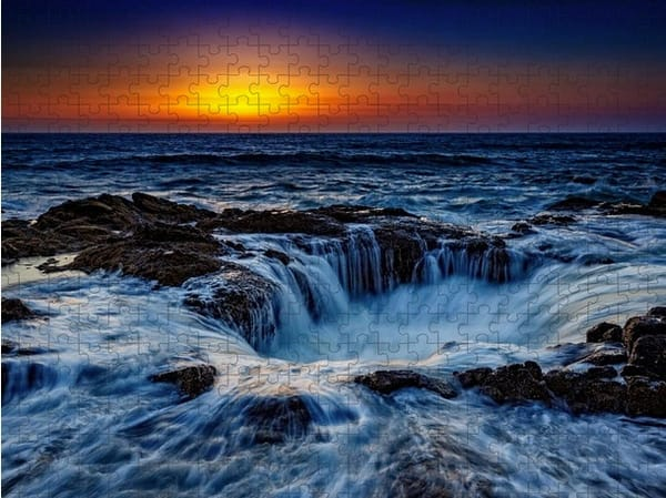 Thor's Well Jigsaw Puzzle   Shop Photography by Rick Berk