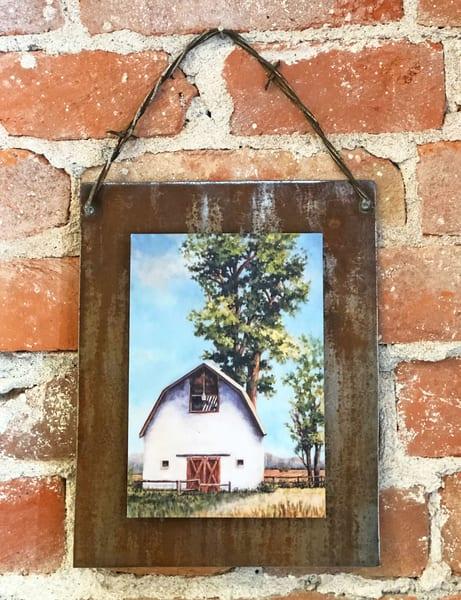 Rural Endurance Rusted Metal Print