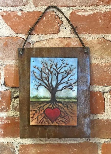 Tree of Life Rusted Metal Print