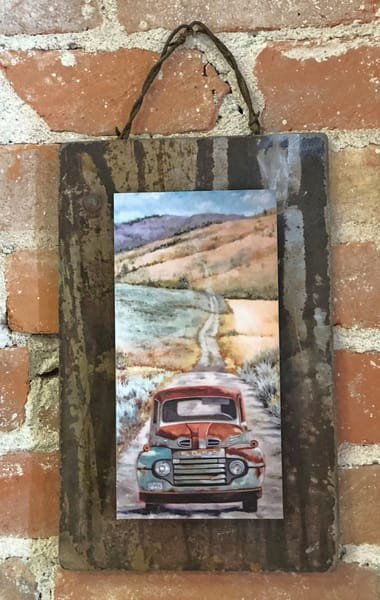 The Road to Possibilities Rusted Metal Print