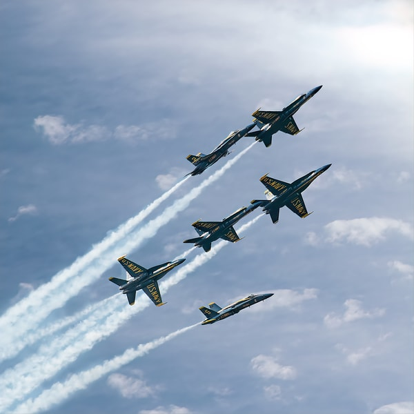 Blue Angels Split Photography Art | Greg Starnes Phtography