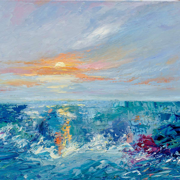 August Surf Square 773 Art | Pamela Ramey Tatum Fine Art