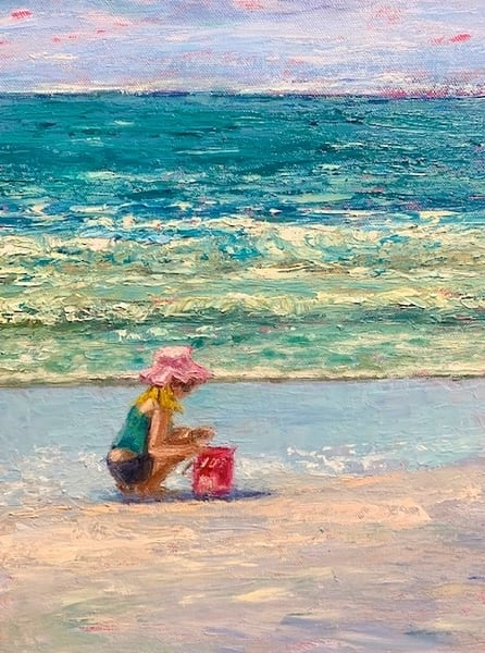 Girl On The Beach Ii 812 Art | Pamela Ramey Tatum Fine Art