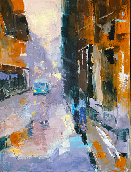 Rainy Day In The City 809 Art | Pamela Ramey Tatum Fine Art