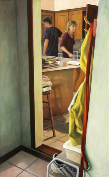 Two In The Kitchen   Original Painting Art | Lidfors Art Studio