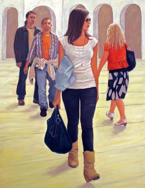 Pedestrians In Vienna   Nr. 1   Original Painting Art | Lidfors Art Studio