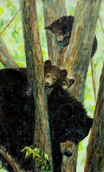Mama Bear & Cubs Art | Blissful Bonita Art Studio & Gallery