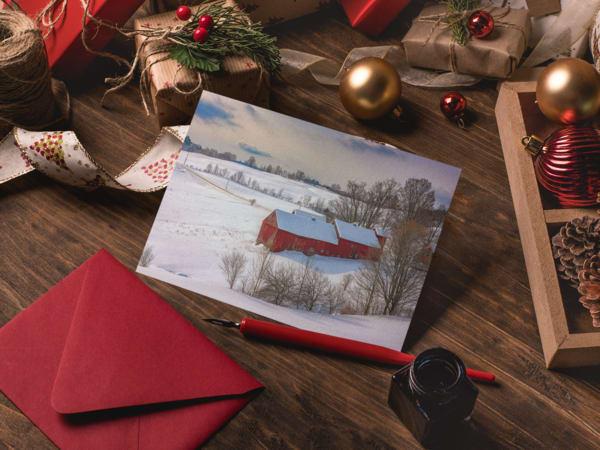 Winter Barns Greeting Card | Shop Photography by Rick Berk