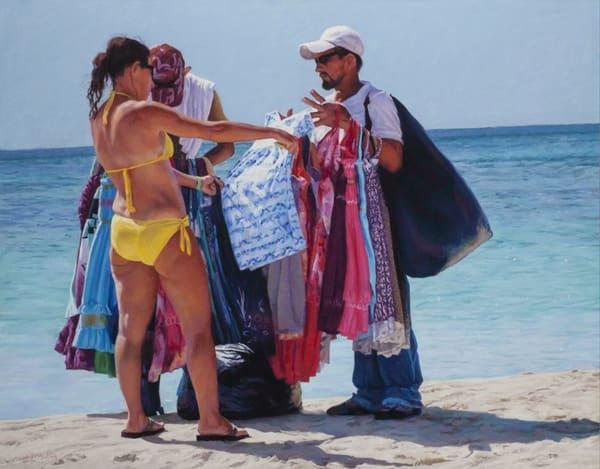 Beach Vendors, Roatan, Honduras  Art   Waif Mullins Art