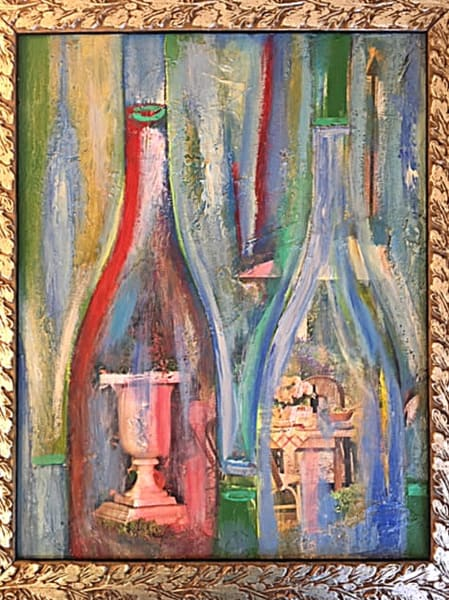 Wine Bottle Vision 5 Art | Cool Art House - online art gallery with hip emerging artists. Collect cool art you can view on your own wall before you invest!