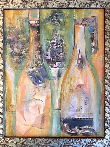 Wine Bottle Vision 2 Art | Cool Art House - online art gallery with hip emerging artists. Collect cool art you can view on your own wall before you invest!