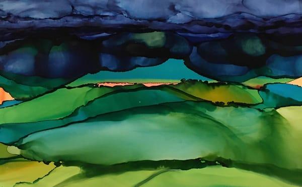 Horizon In Coral, Original Art | Sandy Smith Gerding Artwork