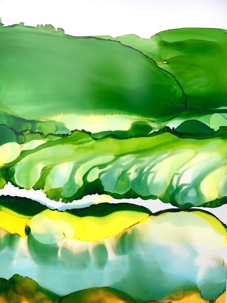 Rolling Hills In Green, Original Art | Sandy Smith Gerding Artwork