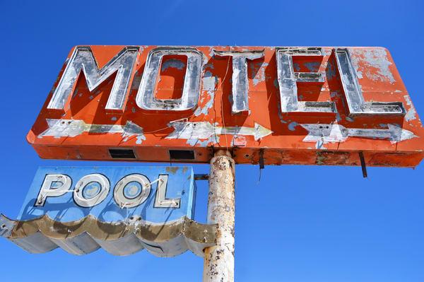 Motel Pool Yuma Az Neon Sign Photography Art | California to Chicago
