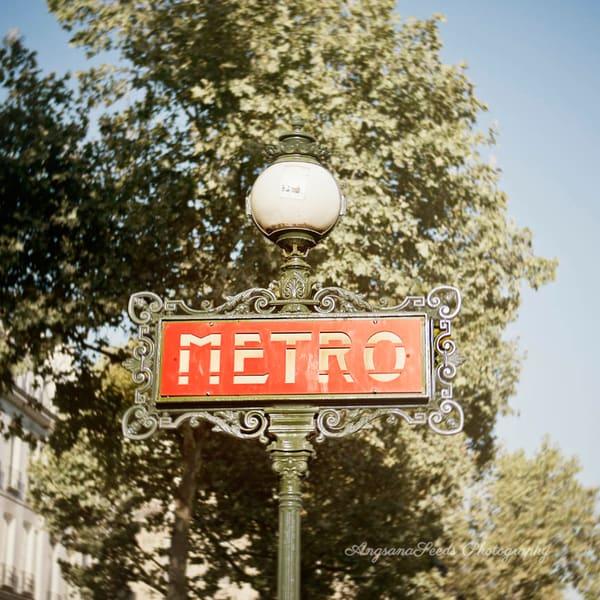 Paris Metro Sign 1  Art   AngsanaSeeds Photography