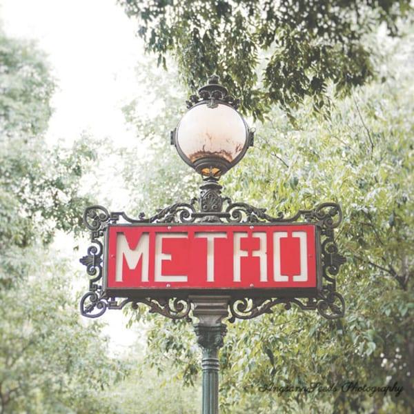 Paris Metro Sign 2 Art   AngsanaSeeds Photography