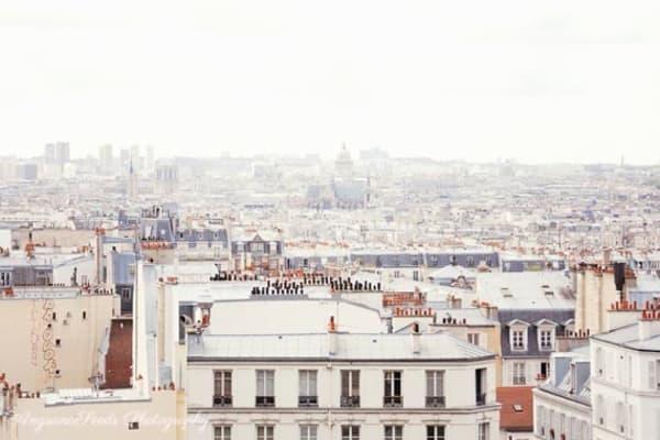 Paris Montmartre Roof Top  Art   AngsanaSeeds Photography