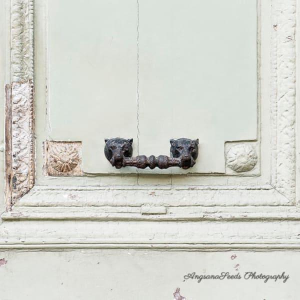 Mint Green Door Art   AngsanaSeeds Photography