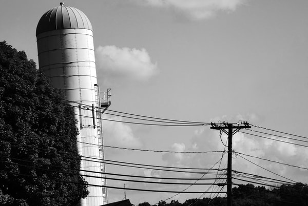 Silo Leaning Photography Art | Peter Welch