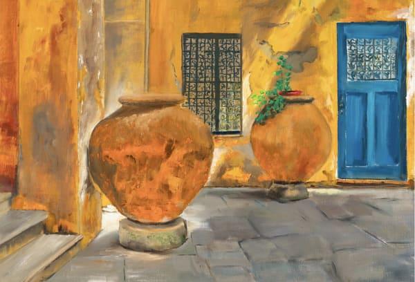 Capri Courtyard Art | Dave Fox Studios