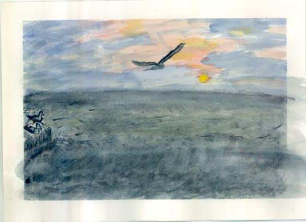 Dawn Bird Over The Inland Sea Art   Howard Lawrence Fine Art