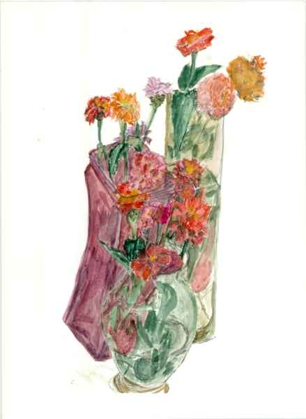 Floral Arrangements Waiting For Their Tables Art   Howard Lawrence Fine Art