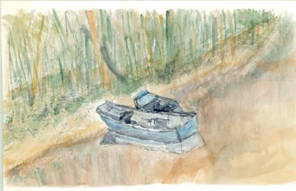 Monet S Boat Hits The Wall I Art   Howard Lawrence Fine Art