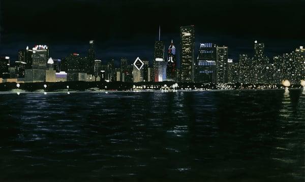 Chicago Skyline At Night Art | Brendan Kramp Studio & Workshop
