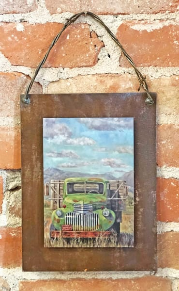 Power and Presence Rusted Metal Print
