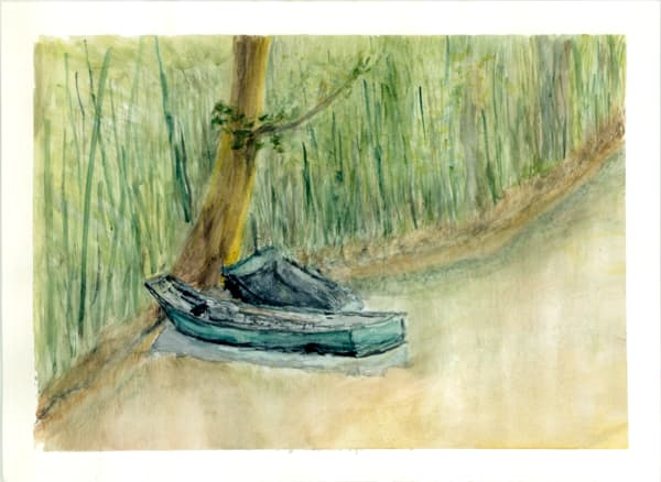 Monet S Boat Art   Howard Lawrence Fine Art