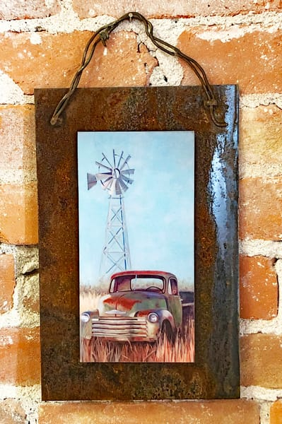 Truck Bliss Rusted Metal Print