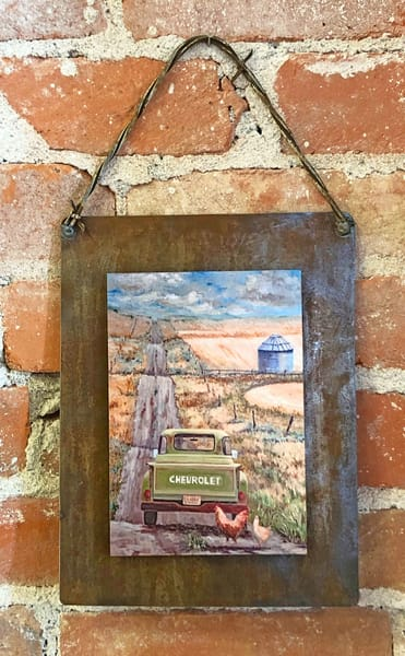 Two for the Road Rusted Metal Print