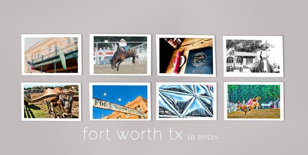 fort worth, texas keepsake 5x7 fine art print gift bundle