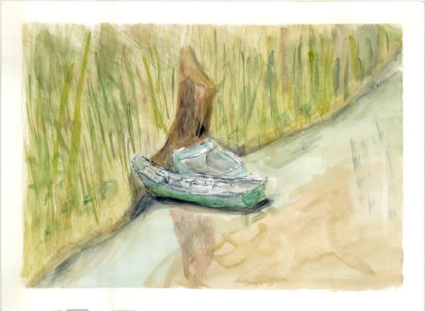 Monet S Boat Hits The Wall Ii Art   Howard Lawrence Fine Art