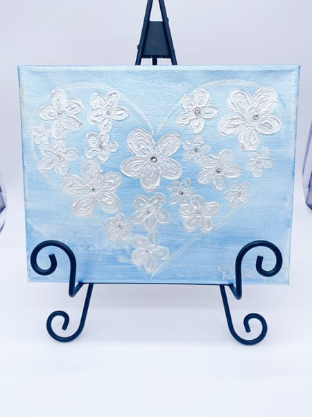 Shimmery True Blue  Art | Heartworks Studio Inc