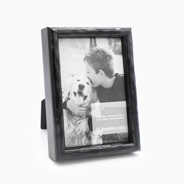 4x6 Carbon Black Photo Frame