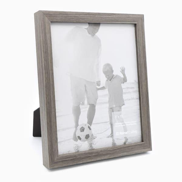 8x10 Flat Grey Oak Photo Frame
