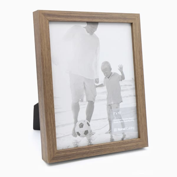 8x10 Flat Light Walnut Photo Frame