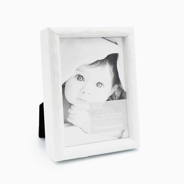 4x6 Urban White Photo Frame