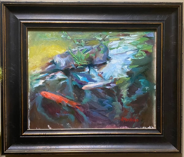 """Koi"" Oil Painting Art 