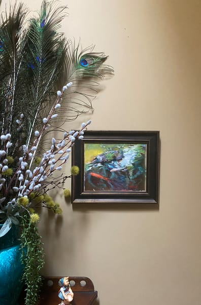 """Koi"" Oil Painting Art   Maniscalco Art"