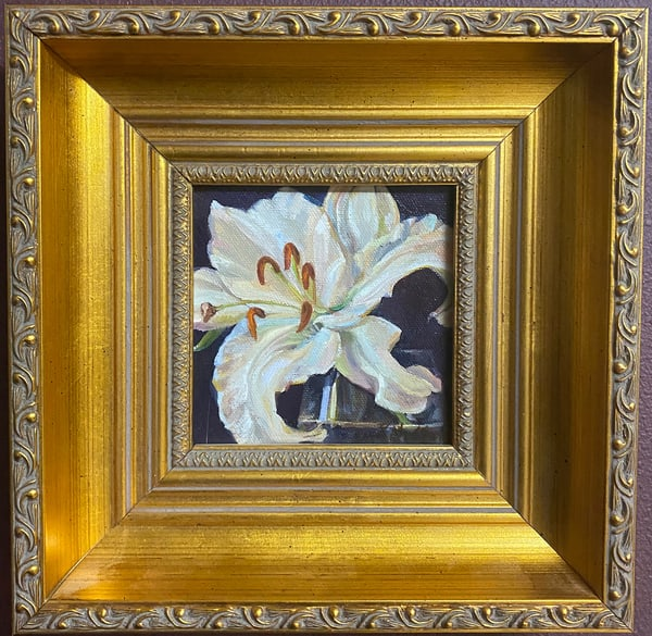 """Lilly"" Oil Painting Art 