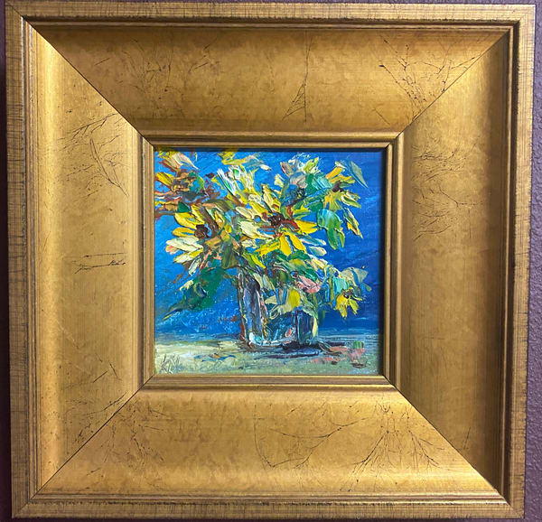"""Sunnies On Blue"" Oil Painting Art 