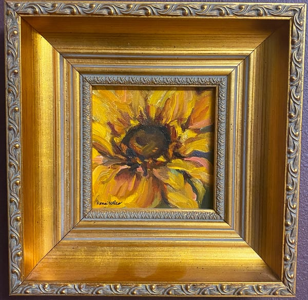 """Sunflower"" Oil Painting Art 