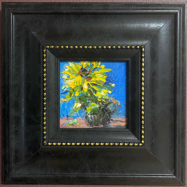 """Sunnies In Black Frame"" Oil Painting Art 